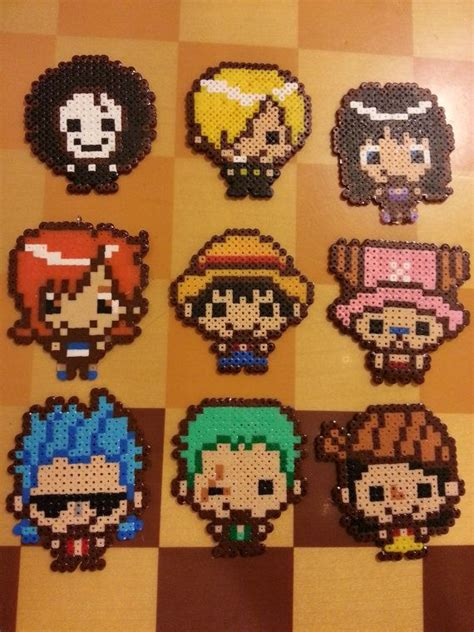 one perler one anime and one chibi