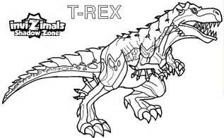 Dibujos Para Colorear De Invizimals  T Rex Recortar Y sketch template