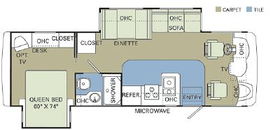 monaco rv floor plans 2006 monaco monarch se 30pdd floorplan