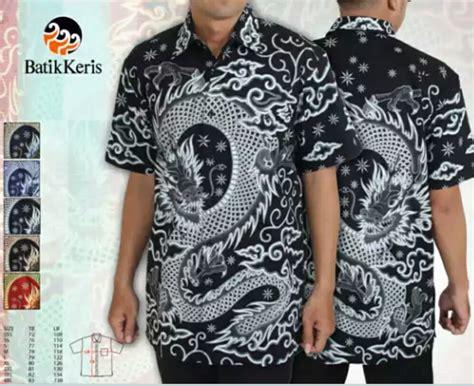 Kemeja Batik Ngantor Pria Lengan Pendek Primisima 1 jual motif naga batik keris kemeja lengan pendek branded