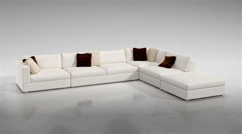 L Shaped Sofas by White L Shaped Sofa 3d Model Cgtrader
