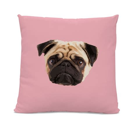 pug pillow pug pillow pug home decor living room pillow