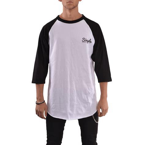 white baseball t shirt simple clothing