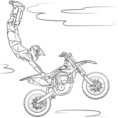 ktm motorcycle coloring pages freestyle motocross coloring page free printable