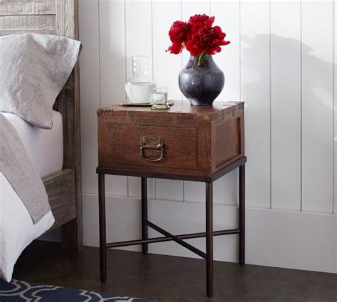 Pottery Barn Mirrored Nightstand by Nightstands Bedside Tables Pottery Barn