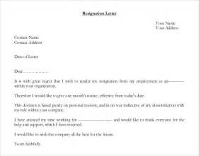 Letter Of Resignation Sle Uk by Resignation Letter Template 28 Free Word Excel Pdf Documents Free Premium