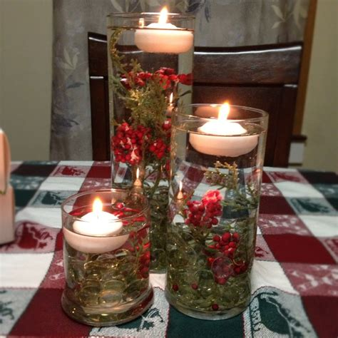 christmas candle centerpieces holiday centerpiece with