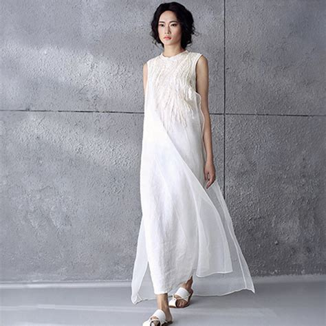 summer style solid white silk embroidery chiffon