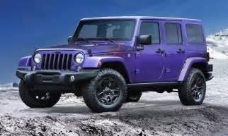 Jeep wrangler backcountry wears purple like a boss autotribute