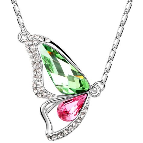 how to make butterfly wing jewelry js n020 butterfly wings necklace white gold plated
