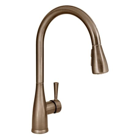 mirabelle kitchen faucets mirabelle mirxcca100orb rubbed bronze calverton pullout spray kitchen faucet with high arch