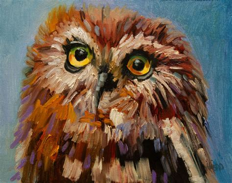 animal painting wildlife of the west artoutwest owl painting animal