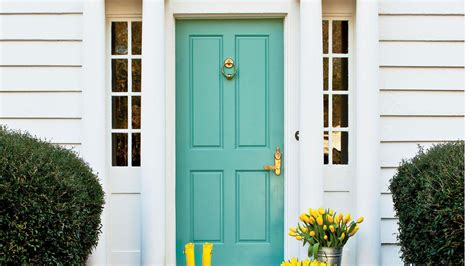 Blue Green Front Door What To Before Painting Your Front Door Bright Green Southern Living