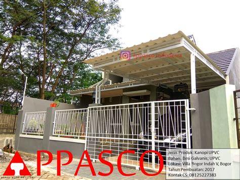 Kanopoi Minimalis UPVC Galvanis di Villa Bogor Indah V