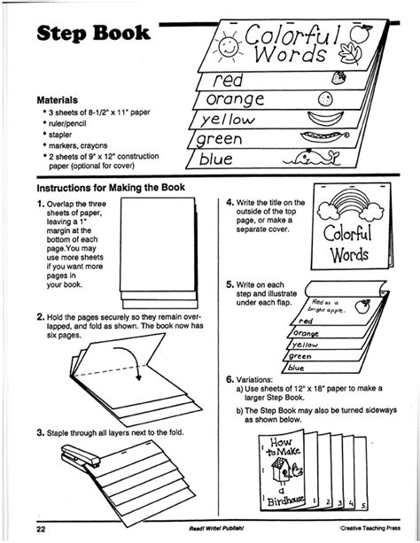 How To Make A 10 Page Book Out Of Paper - tommie s tools how to make a step book