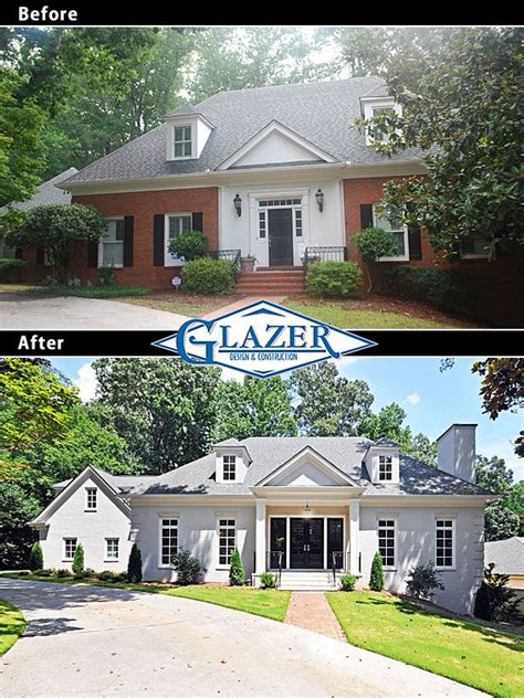 before and after photo of exterior atlanta home renovation