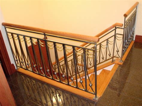 Interior Railings And Banisters by Wood Steel Interior Railing Traditional