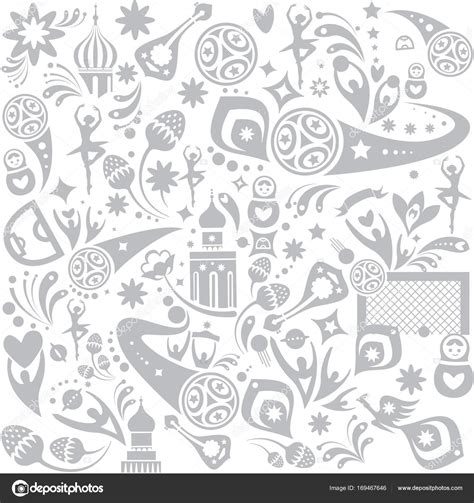 russian pattern vector seamless pattern 2018 fifa world cup russia soccer