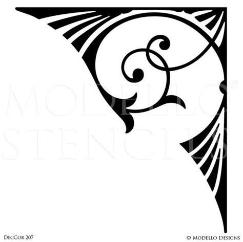 corner template designs modello stencils tagged quot deco stencils quot modello