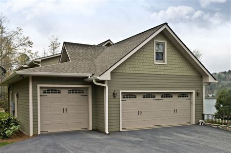 Two Sizes Garage And Two Sizes Garage Door Same Color Garage Door Paint Colors