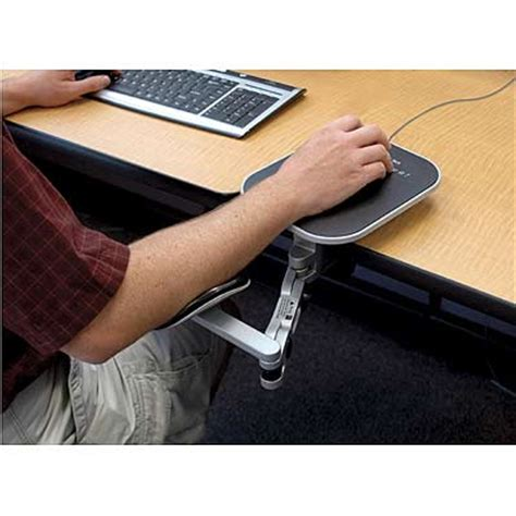 Armrest Desk desk cl arm rest w mouse pad silver ebay