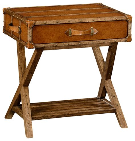 Farmhouse Side Table by Jonathan Charles Travel Trunk Style Side Table 494464