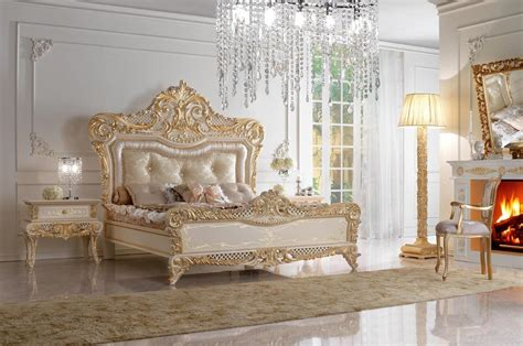 royal beds double bed in carved wood and upholstered headboard