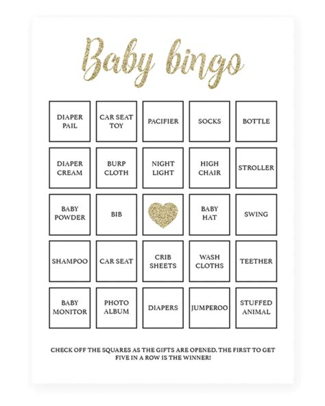 baby bingo card template printable baby bingo cards for your baby shower by