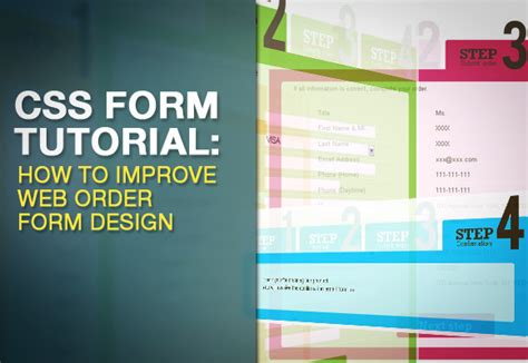 css tutorial with demo css form tutorial how to improve web order form design