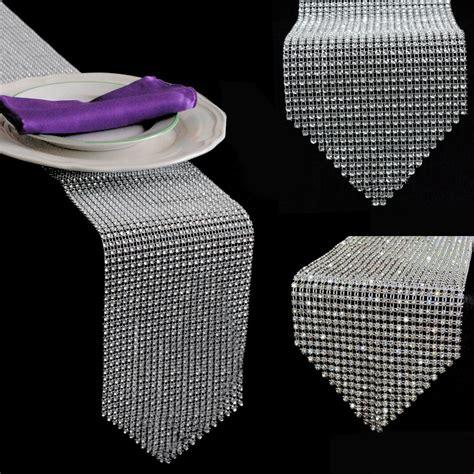 new diamond mesh rhinestone wedding table runner