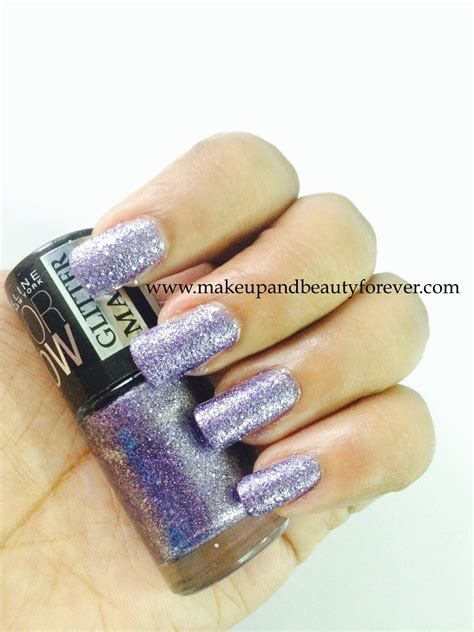 Glitter Eyeshadow Maybelline Maybelline Glitter Mania Paparazzi Purple Makeup And