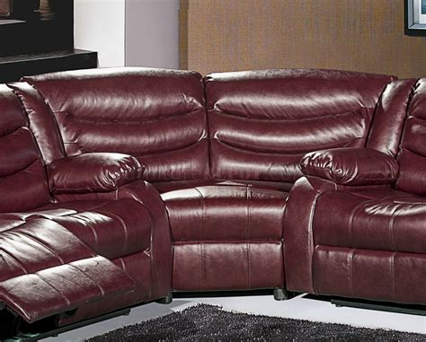 gramercy 644 motion sectional sofa in burgundy bonded leather