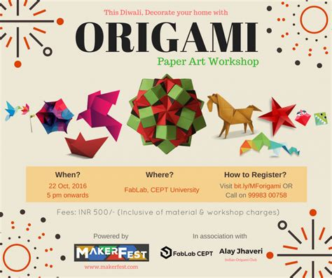 Origami Workshop - origami paper workshop at fablab cept ahmedabad