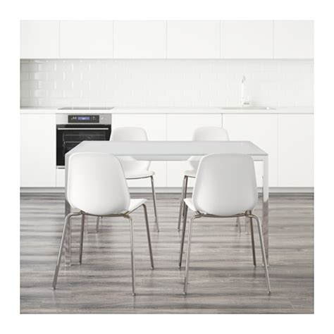 Ikea Glass Dining Table And Chairs Torsby Leifarne Table And 4 Chairs Glass White White 135 Cm Ikea