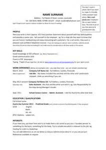 resume format cv template year 11