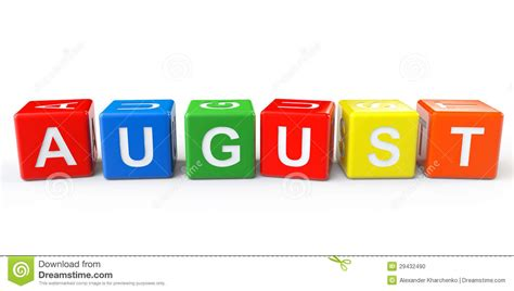 cubes with august sign stock photo image 29432490