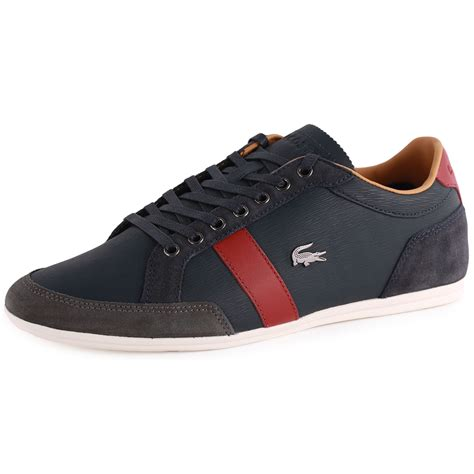 lacoste alisos 20 mens leather suede blue trainers
