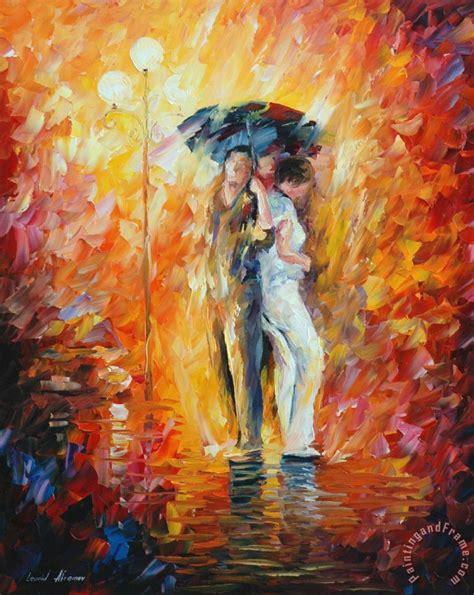 umbrella painting leonid afremov one umbrella painting one