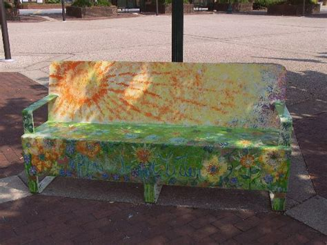 artist bench quot art on the bench quot local artists bring color to hickory