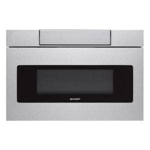 Home Depot Microwave Drawer by Sharp 30 In W 1 2 Cu Ft Built In Microwave Drawer With Easy Touch In Real Stainless