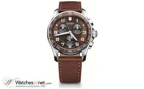 Swiss Army Chrono On Light Brown List victorinox swiss army chrono classic 241498 s stainless steel chronograph quartz