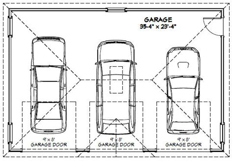 Standard 3 Car Garage Size by 3 Car Garage Floor Plans Inspiration Decorating 39579
