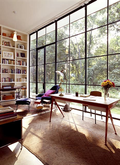 Windows Home Office Glass House Eclectic Home Office Other Metro By