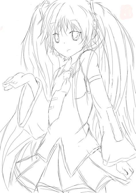 imagenes de hatsune miku kawaii para colorear drawing my world hola volvemos con vocaloid