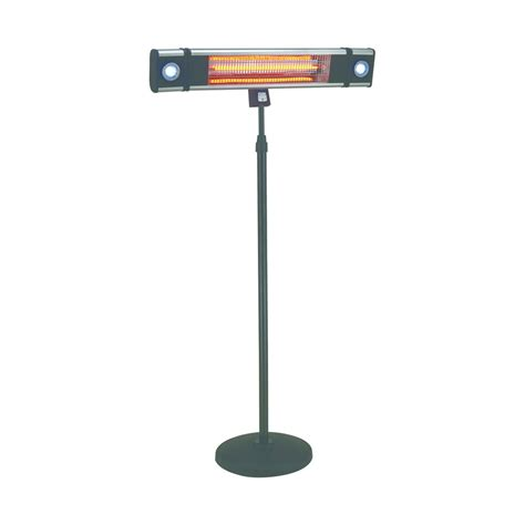 Energ Hea 218cslr Ss 1500 Watts Free Standing Outdoor Indoor Patio Heater