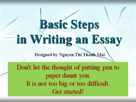 The Steps To Writing An Essay by Steps Of Writing An Essay Authorstream
