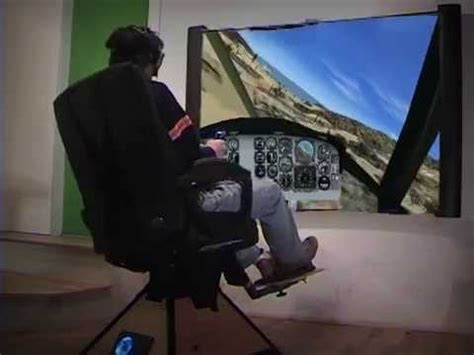 moving flight simulator chair reality motion helicopter flight simulator on