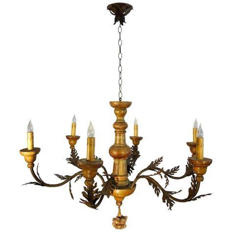 antique l chandelier 19th century antique venetian painted wood 6 arm chandelier at 1stdibs