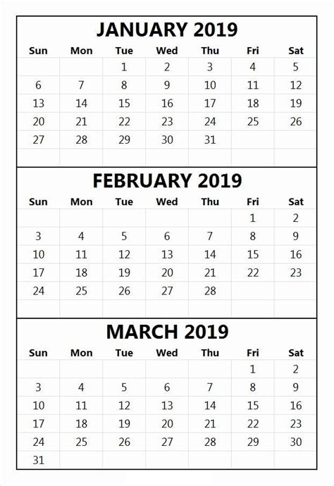 january  february  printable calendar templates june  calendar