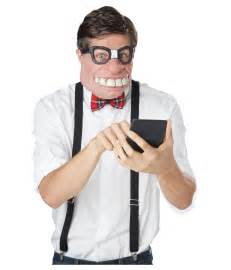 Nerd Costume Geeked Out Nerd Costume Mens Mask Funny Costumes
